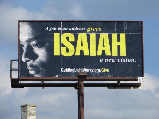 Guiding Light Outdoor Ad - Isaiah