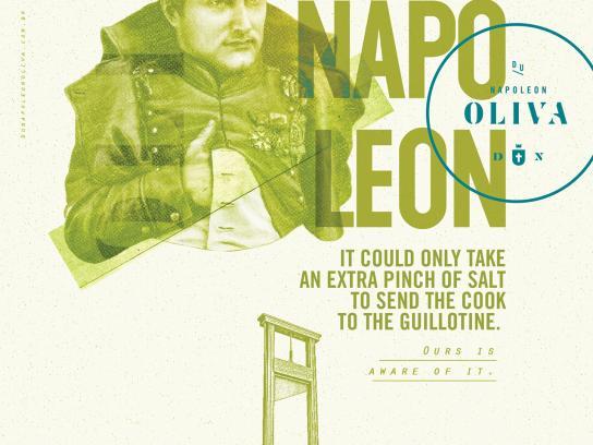 Du Napoleon Oliva Print Ad - Guillotine