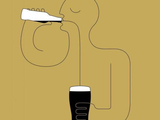 Guinness Print Ad -  Now in a bottle, 1