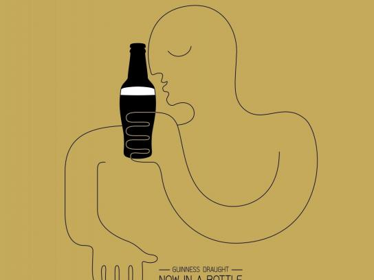 Guinness Print Ad -  Now in a bottle, 2