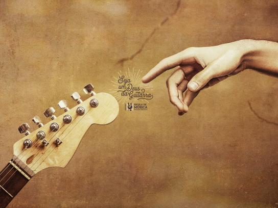 EMURP Music School Print Ad - Become a Guitar God