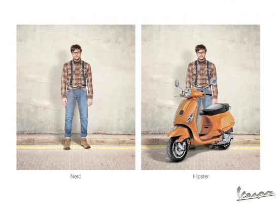 Vespa Print Ad -  Guy