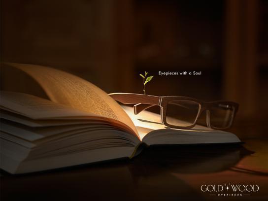 Gold & Wood Print Ad -  Magic
