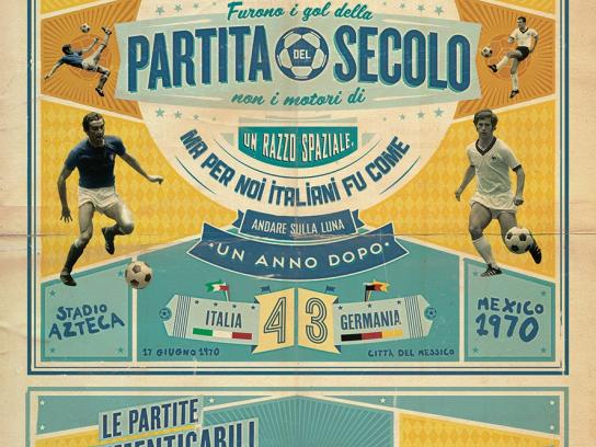 La Gazzetta dello Sport Print Ad -  The unforgettable matches of the Italian National Team, 1