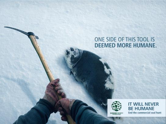 Humane Society International Print Ad - Hakapik
