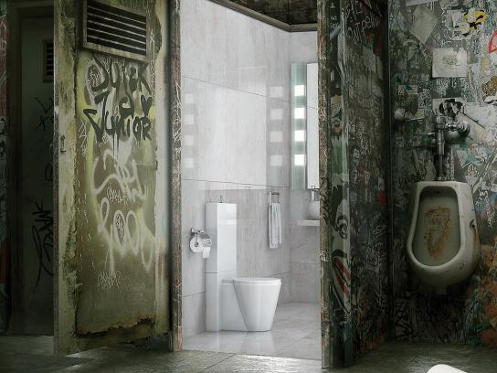 Hakle Print Ad -  Toilet, 1