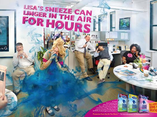 Halo Oral Antiseptic Print Ad -  Liza's sneeze