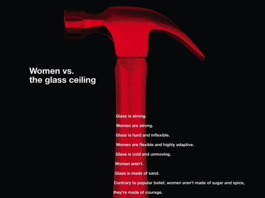 Hiscox Print Ad - Women vs. The Glass Ceiling