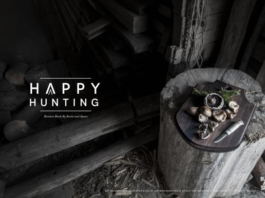 Bucks And Spurs Print Ad - Happy Hunting, 1