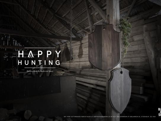 Bucks And Spurs Print Ad - Happy Hunting, 2