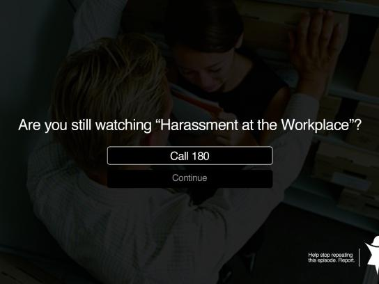 Central de Atendimento à Mulher Print Ad - Harassment at the Workplace