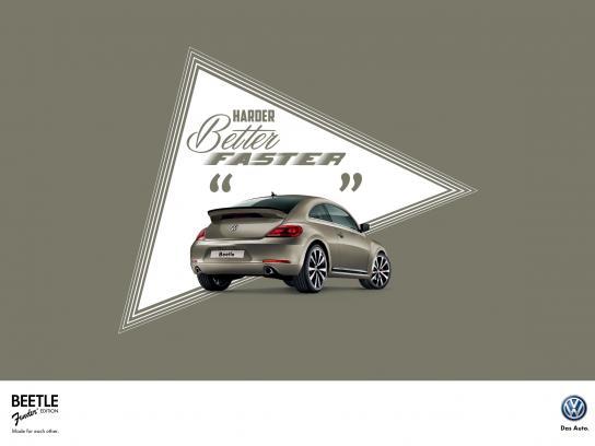 Volkswagen Print Ad -  Harder better faster