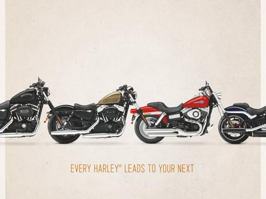 Harley-Davidson Print Ad -  Trade Up
