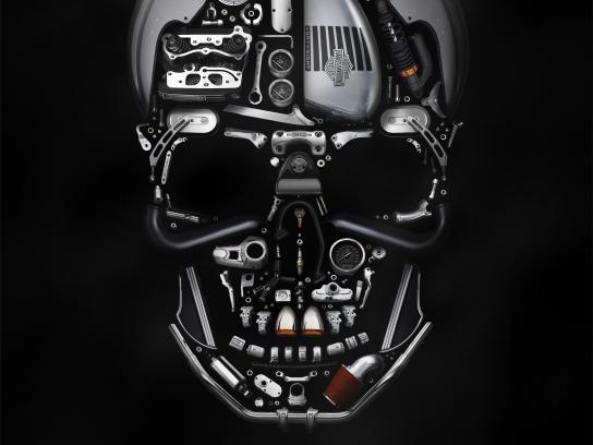 Harley-Davidson Print Ad - Halloween Poster