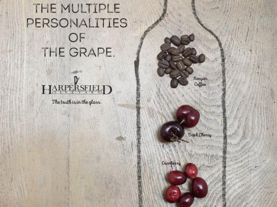 Harpersfield Vineyards Print Ad - Multiple Personalities