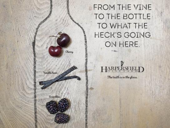Harpersfield Vineyards Print Ad - What the Heck