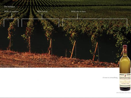 Harpersfield Winery Print Ad -  The holidays