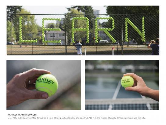 Hartley Tennis Outdoor Ad -  Learn