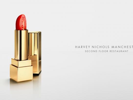 Harvey Nichols Outdoor Ad -  Lipstick