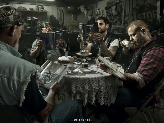 Harley-Davidson Print Ad -  Book Club, 2