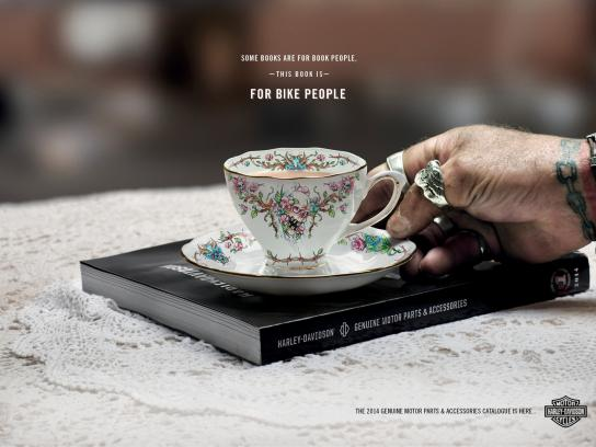 Harley-Davidson Print Ad -  Book Club, 1