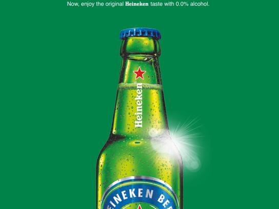 Heineken Print Ad - Baby on Board? Cheers.