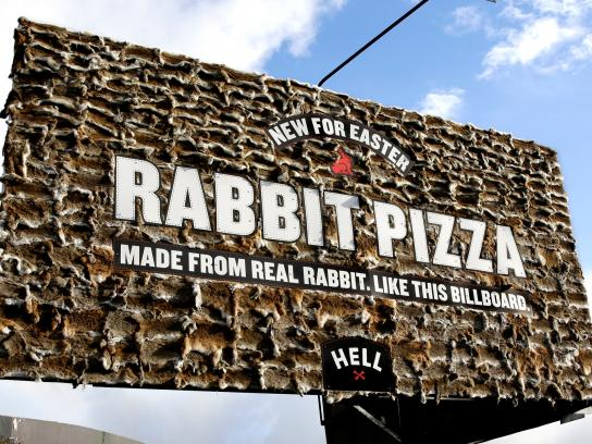 Hell Pizza Outdoor Ad -  Rabbit