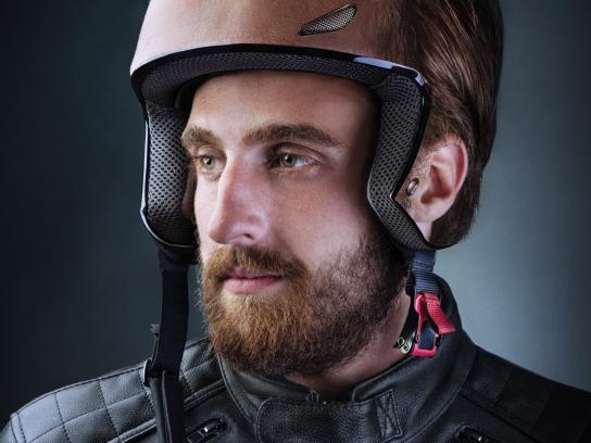 Jordan Insurance Company Print Ad - Helmet, 1