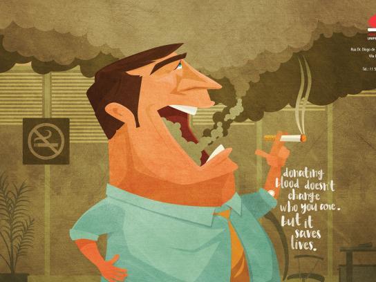Fundação Hemocentro de Brasília Print Ad -  Smoker