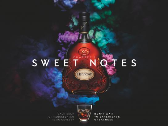 Hennessy Print Ad -  Sweet notes