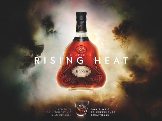 Hennessy Print Ad -  Rising heat