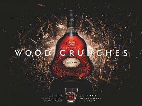 Hennessy Print Ad -  Wood crunches