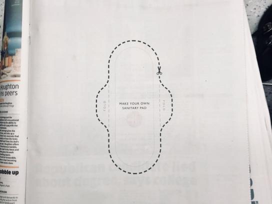 Hey Girls Print Ad - The Pad Ad