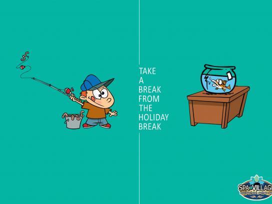 Hamat Gader Print Ad - Fishing