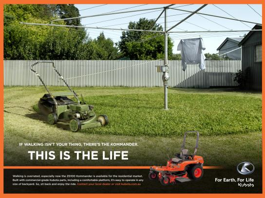 Kubota Print Ad -  Hills Hoist