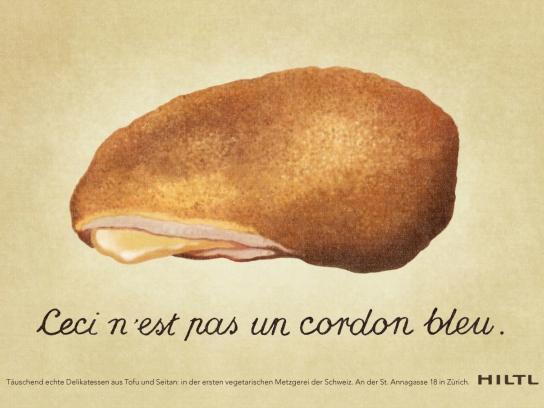 Hiltl Print Ad -  Cordon Bleu