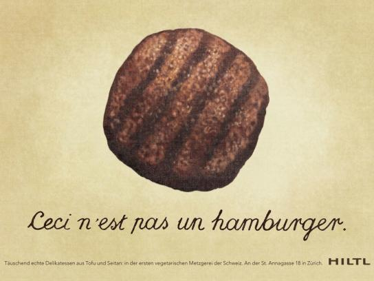Hiltl Print Ad -  Hamburger