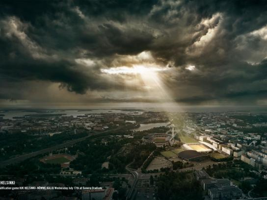HJK Helsinki Football Club Print Ad -  The Miracle of Helsinki