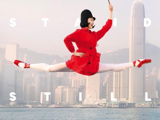 Hong Kong Ballet Print Ad - Jump Umbrella