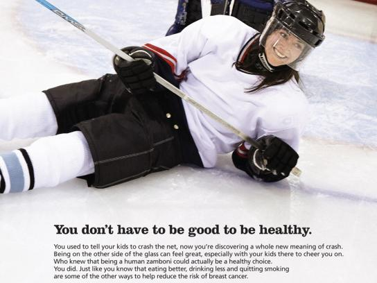 Canadian Breast Cancer Foundation Print Ad -  Hockey