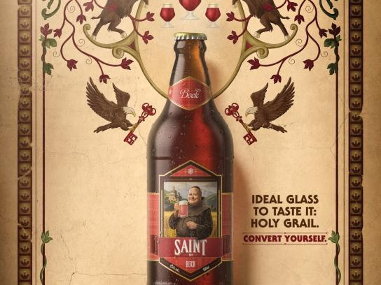Saint Bier Print Ad - Holy Grail