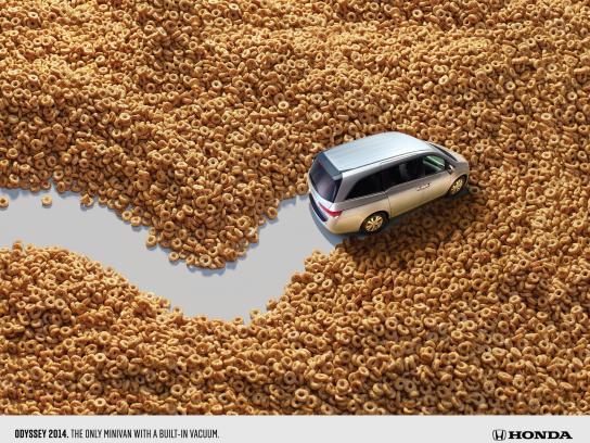 Honda Print Ad -  Vacuum Cereal