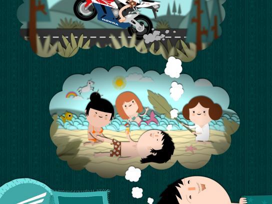Honda Print Ad -  The Dream