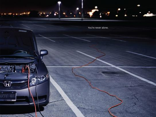 Honda Print Ad -  Jumper cable