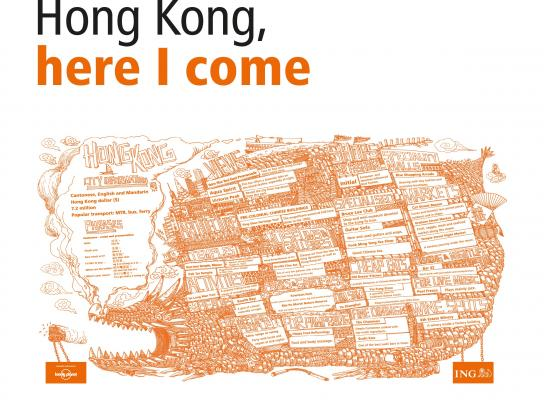 ING Outdoor Ad -  Cities in a Click - Hong Kong