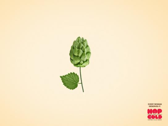 Hop & Cold Print Ad - Flower