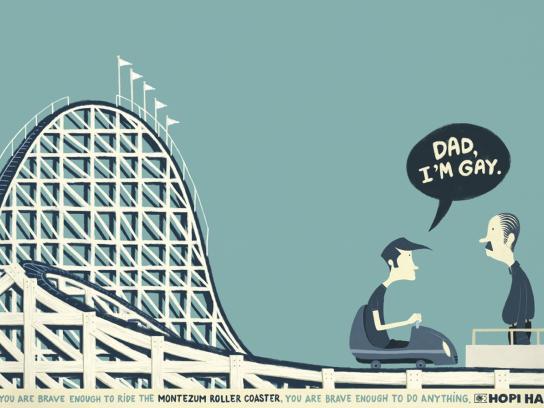 Hopi Hari Theme Park Print Ad -  Gay