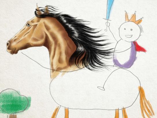 Kolor Me Print Ad -  Horse