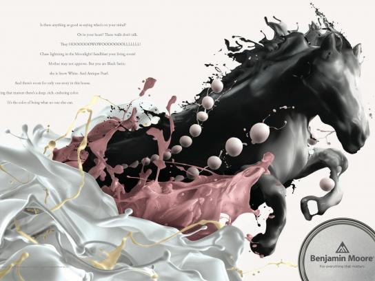 Benjamin Moore Print Ad -  Horse - page 1