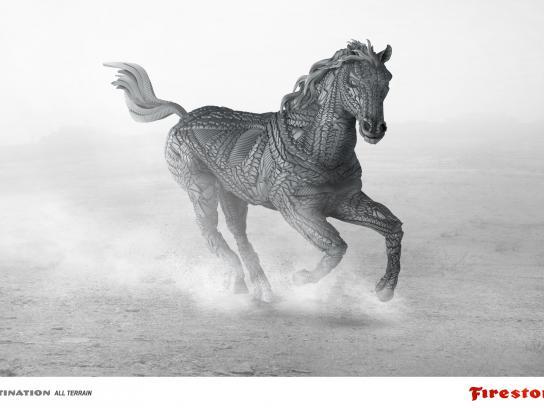 Firestone Print Ad -  Horse